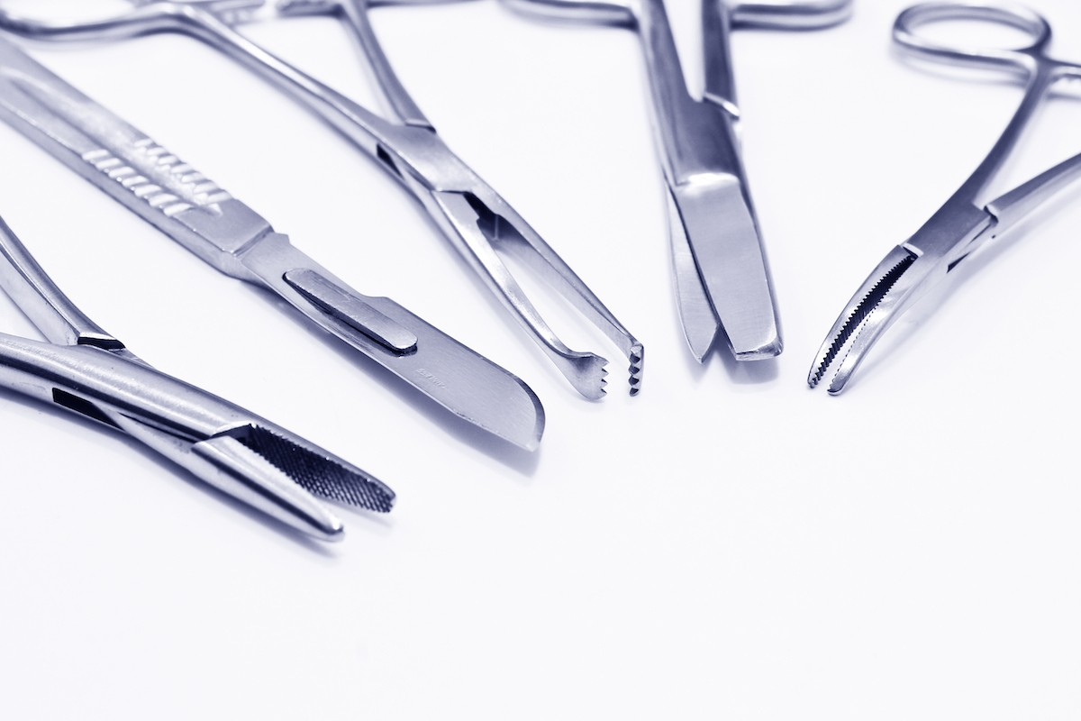 Image of surgical instruments made from surgical steel