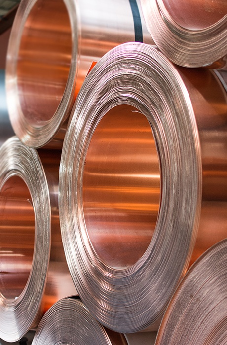 Mead Metals Beryllium Copper Rolls