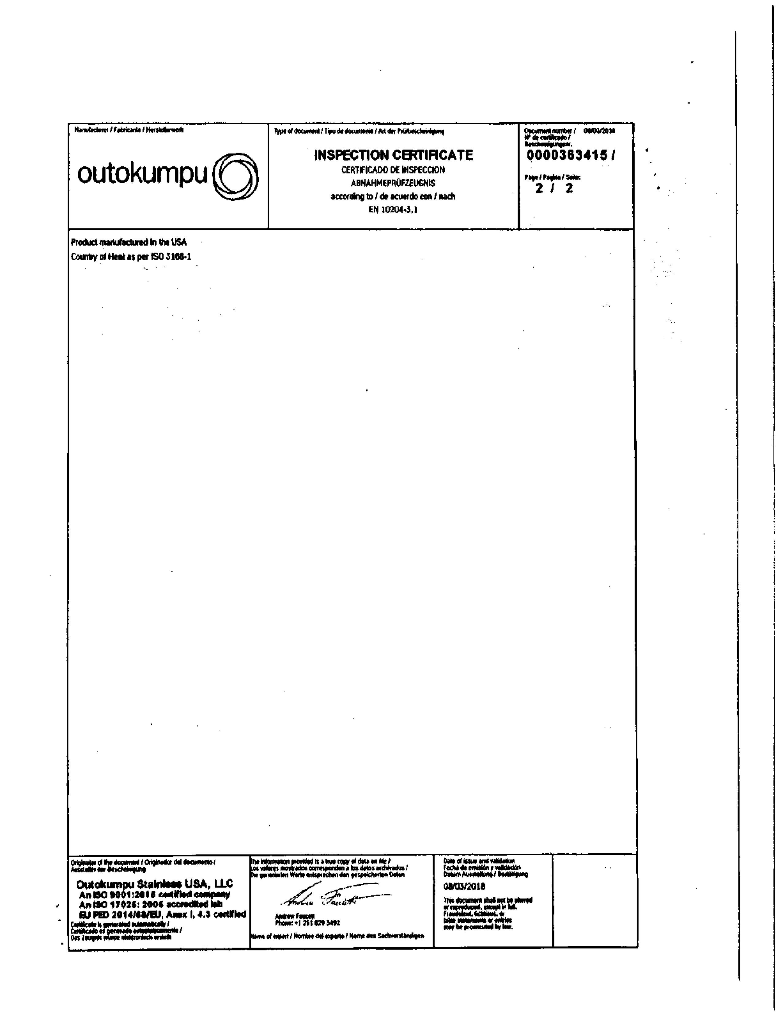 mill test report example page 3
